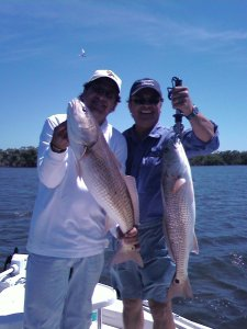 Two big redfish
